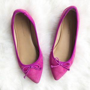 Banana Republic Robin ballet pink suede flats 7